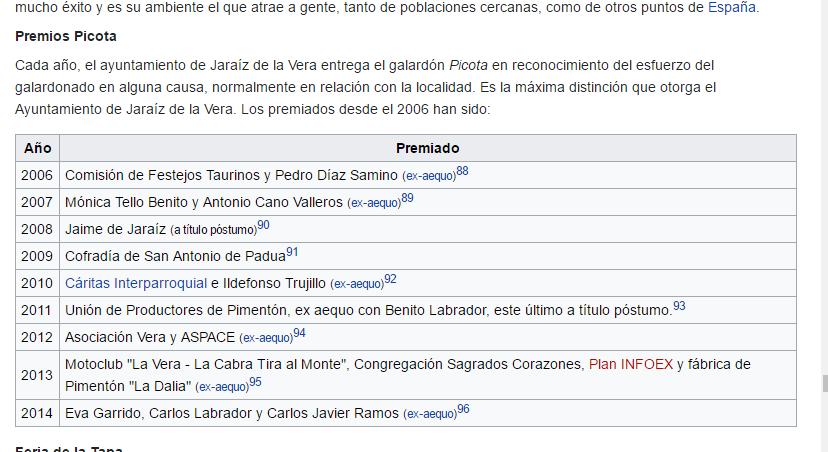 Premios Picota. Mónica Tello
