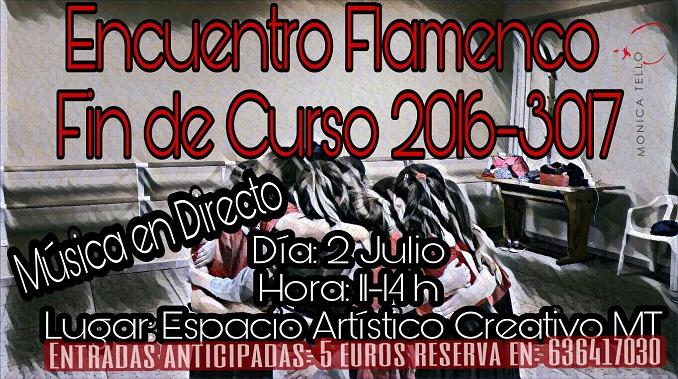 Encuentro Flamenco Fin de Curso 2016-2017 en el Espacio Artístico Creativo MT