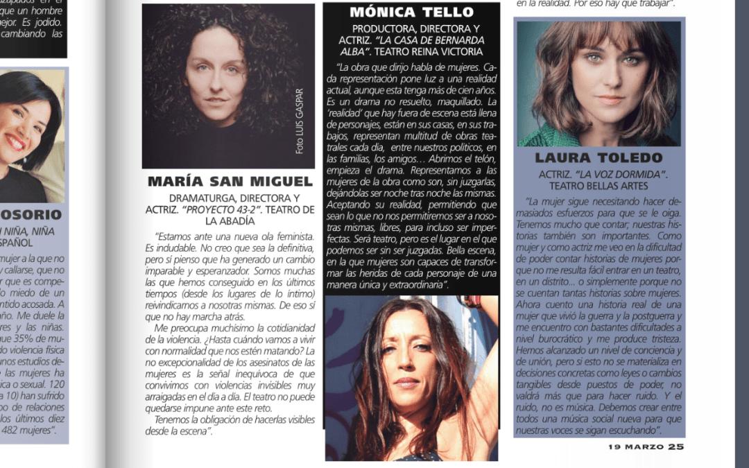 Revista teatros. Mujeres en escena