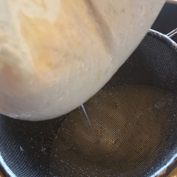 Straining the curds