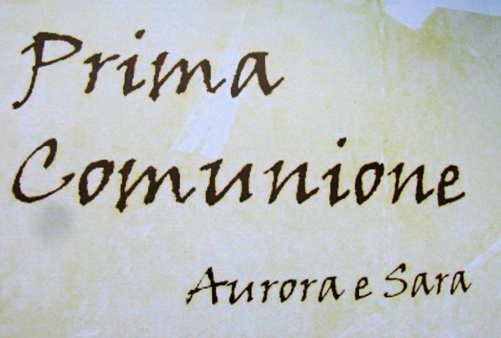 Inviti Prima Comunione Sara - First Communion Iivitations Sara (1/6)
