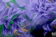 "Bloom #2, Acrylic on 18x24"" canvas"