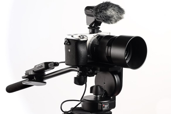 a Sony a6000 with video accessories