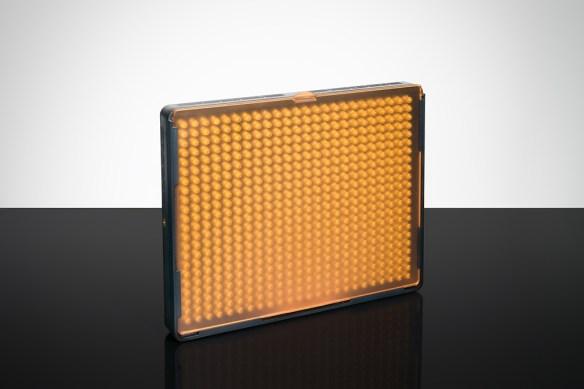 Aputure AL 528S with orange diffuser