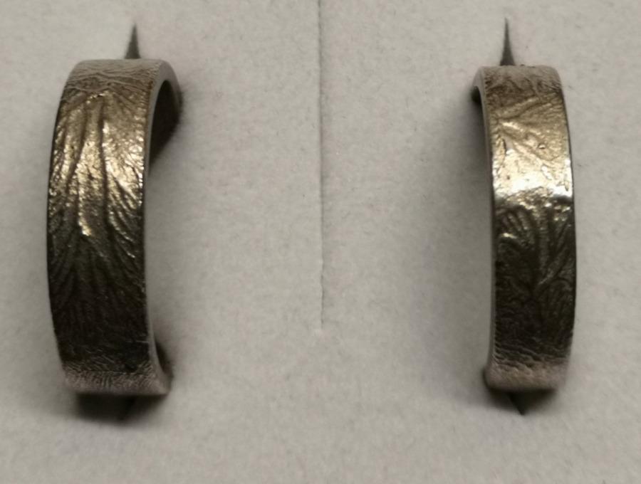 Fingerprint Trauringe aus Feinsilber