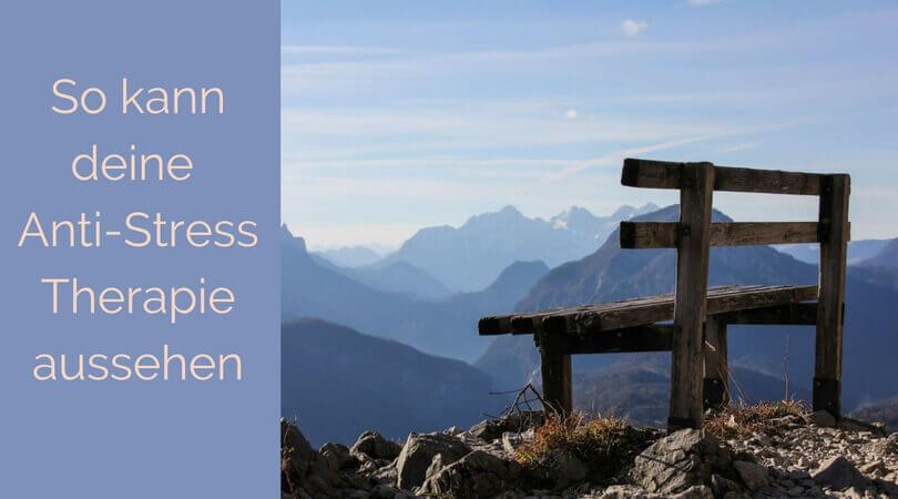 Anti Stress, Bank auf einem Berg
