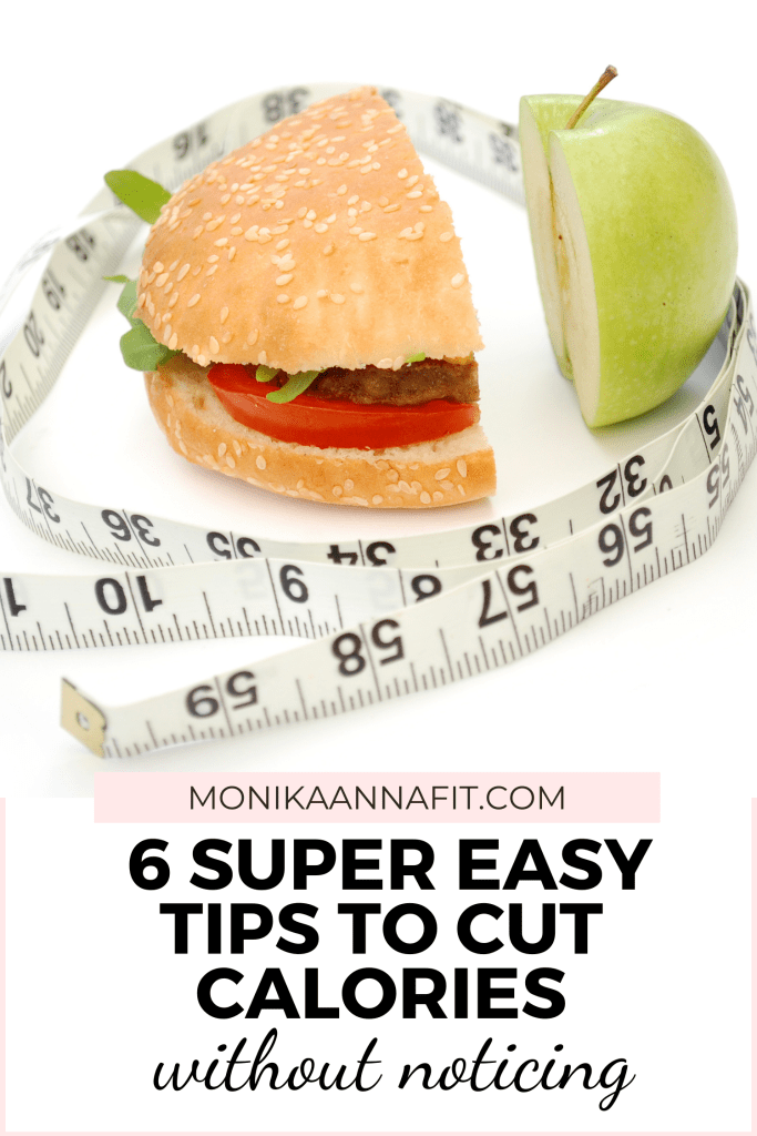 6 super easy tips to cut calories without noticing monikaannafit.com. Apple and burger cut in half. Measuring tape