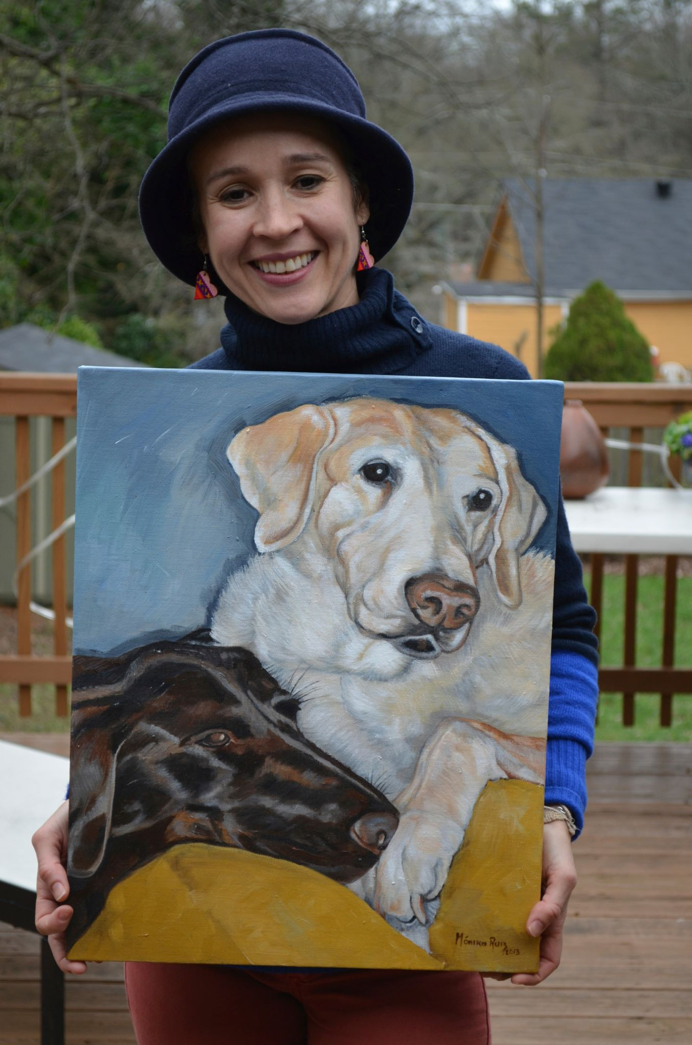 Monika Ruiz with Pet Portrait