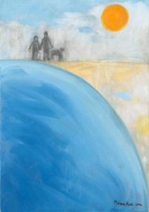 Beach Stroll by Monika Ruiz