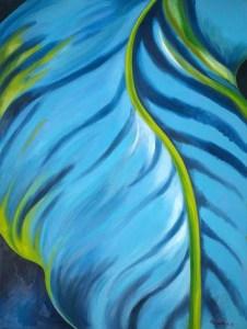 Monika Ruiz Art - Blue, Green Vein