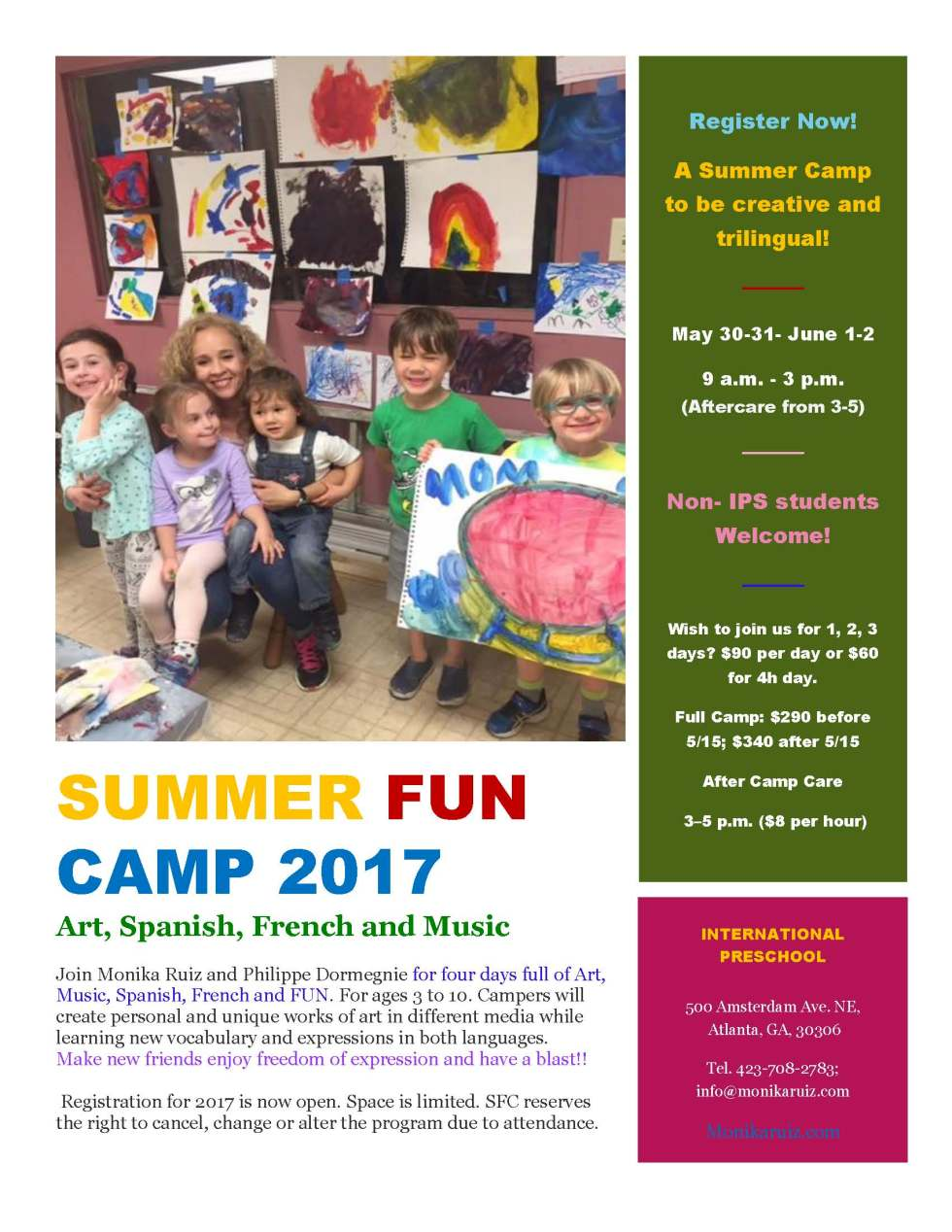 Summer Fun Camp 2017 with Monika Ruiz and Philippe Dormegnie