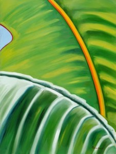 Monika Ruiz Art - Green, Yellow Vein
