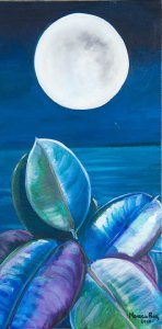 Monika Ruiz Art - Moon Reflection