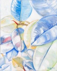 Monika Ruiz Art - White Leaves