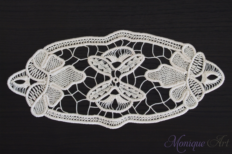 White point lace crochet