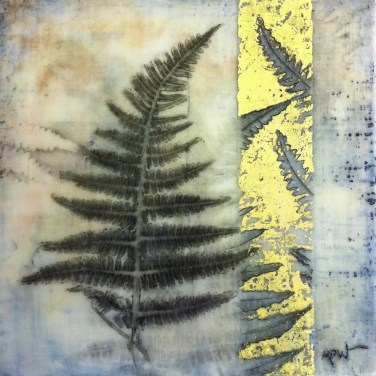 Monique Day-Wilde Mixed media with wax and monotypes fern