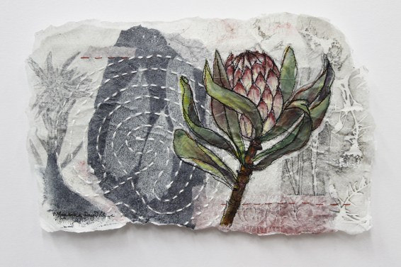 Mixed media collage by Monique Day-Wilde