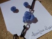 Blue glass roses 2