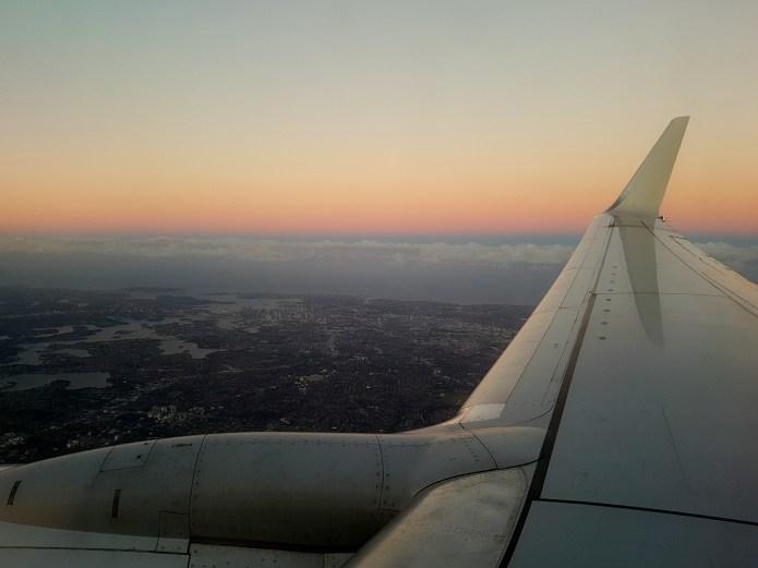 Qantas Flight over Sydney
