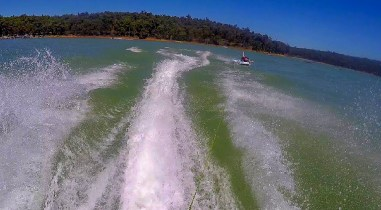Jetskiing at Waroona Dam