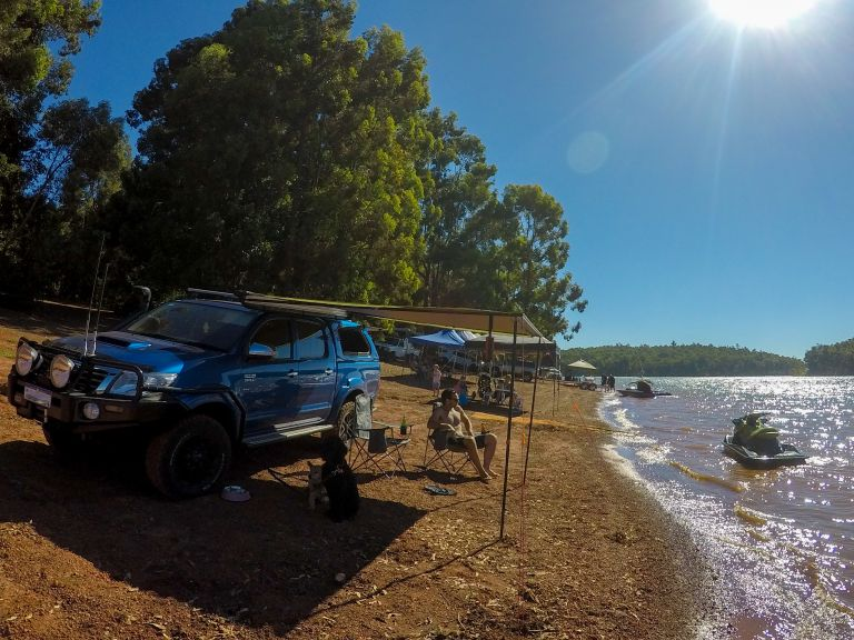 Set Up at Waroona Dam