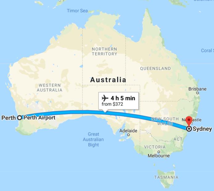 Perth to Sydney