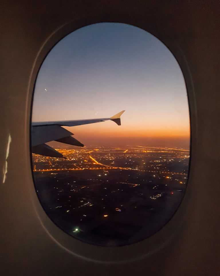 Flying into Dubai