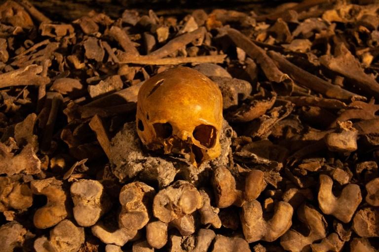Skull at Catacombs of Paris