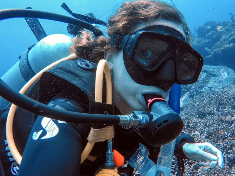 Underwater Photography Selfie at Toya Pakeh