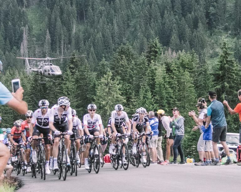 Stage 10 Tour de France Plateau des Glieres Team Sky