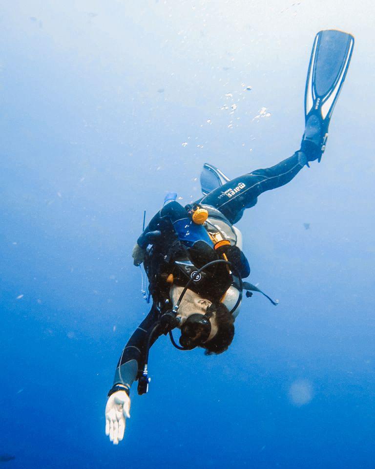 PADI Divemaster Training Blue Corner Dive Nusa Lembongan Bali 1