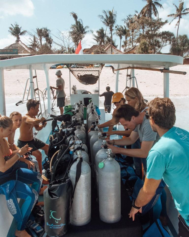 Blue Corner Dive Nusa Lembongan Bali