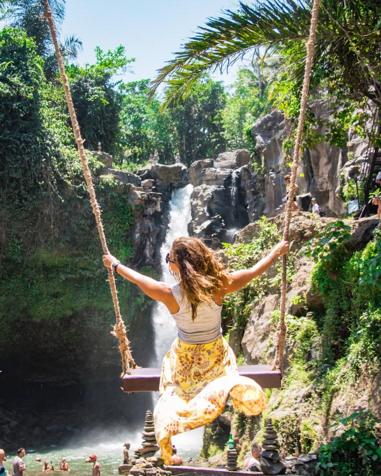 Tegenungan Waterfall Ubud Bali Indonesia