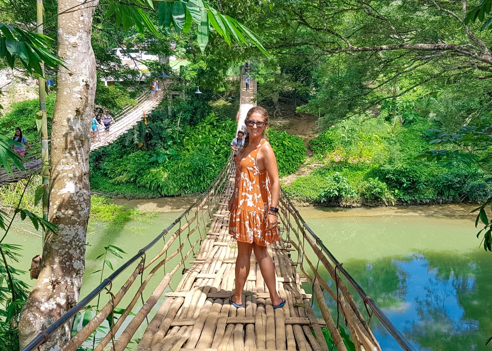 Bamboo Hanging Bridge Bohol Philippines