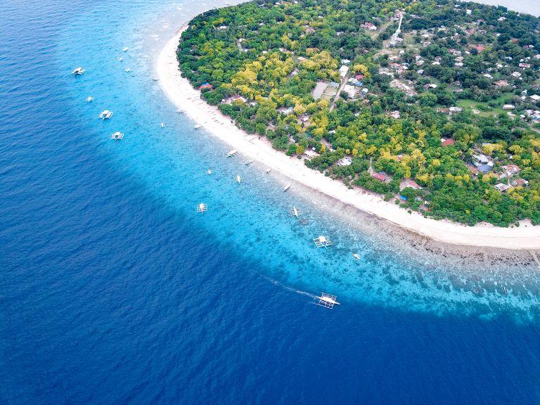 Balicasag Island Bohol Philippines Drone