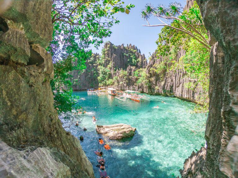 Coron Island Hopping Palawan Philippines Twin Lagoon
