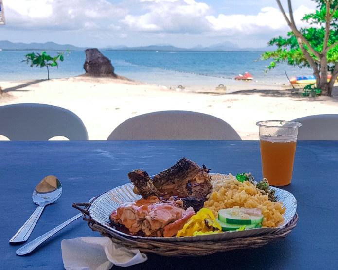 Cowrie Island Honda Bay Palawan Philippines Lunch