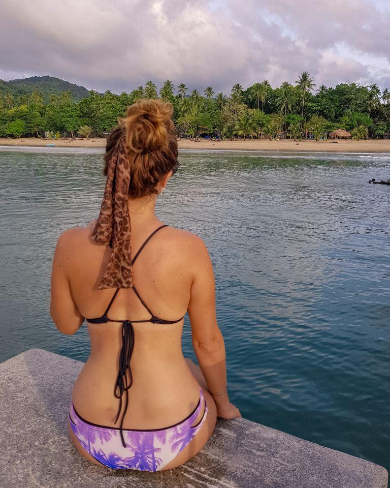 Bikini Girl Lio Beach El Nido Palawan Philippines