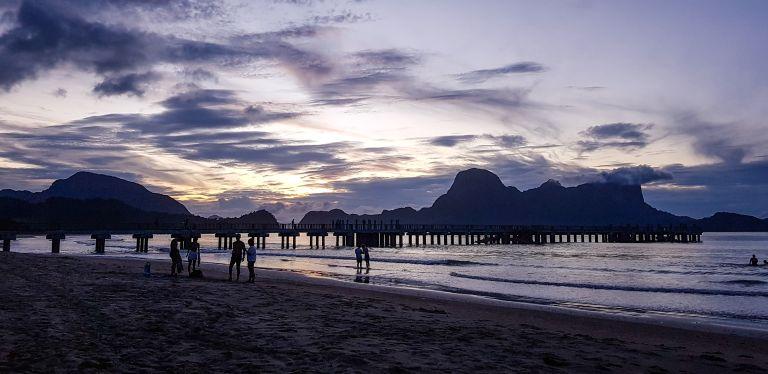 Sunset Lio Beach El Nido Palawan Philippines