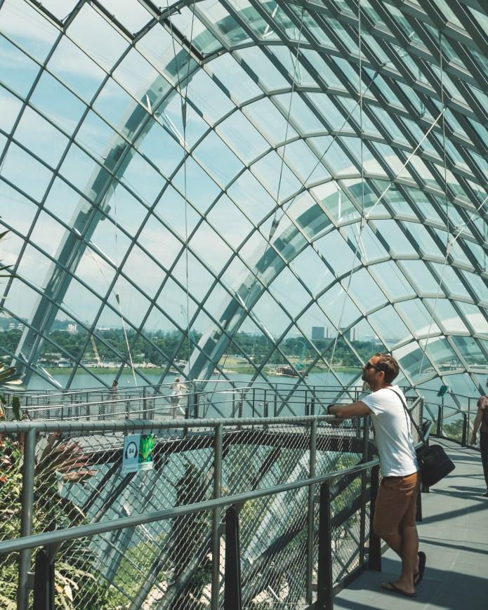 Gardens by the Bay Singapore Cloud Garden Greenhouse Viewing Platform