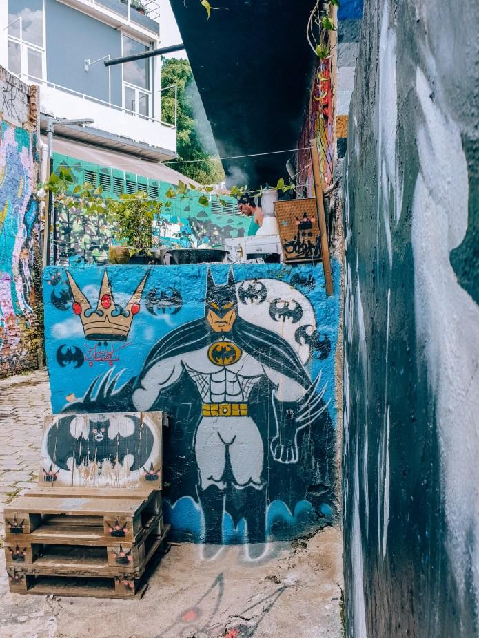 Beco do Batman Sao Paulo Brazil South America Cartoon
