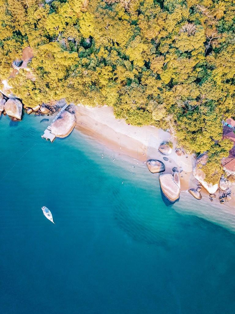 Ilha Grande Rio de Janeiro Brazil Bananal Drone