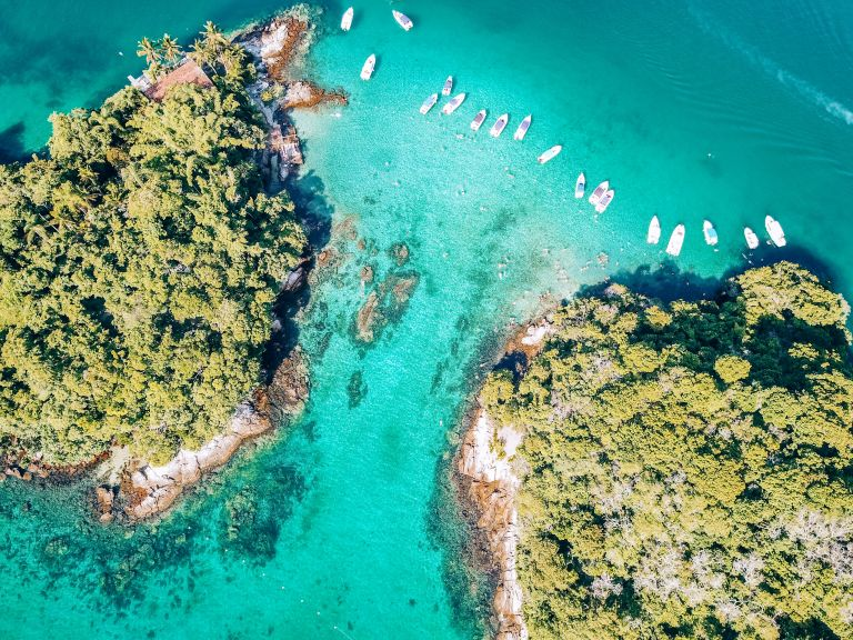Ilha Grande Rio de Janeiro Brazil Lagoa Azul