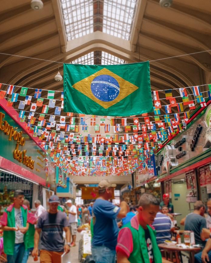 Inside Central Market Sao Paulo Brazil South America
