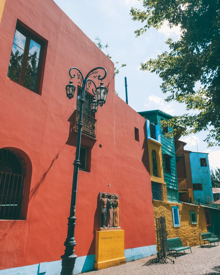 The colourful streets of La Boca Buenos Aires Argentina