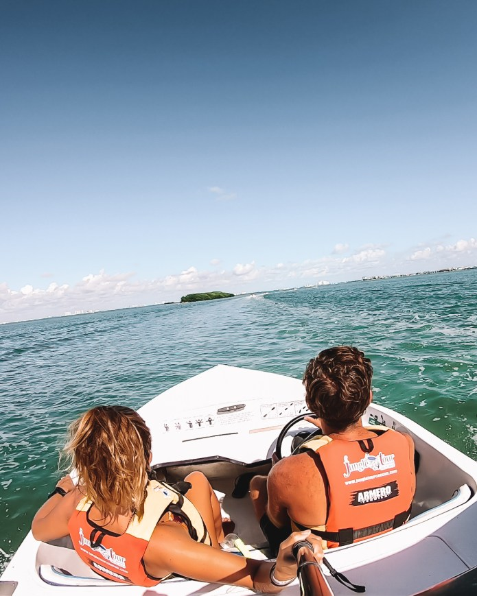 Speedboat Jungle Tour MUSA Cancun Mexico North America