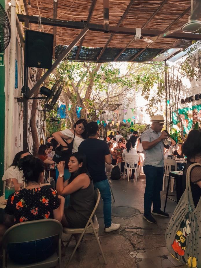 Cantina La Negrita Merida Mexico North America Crowd