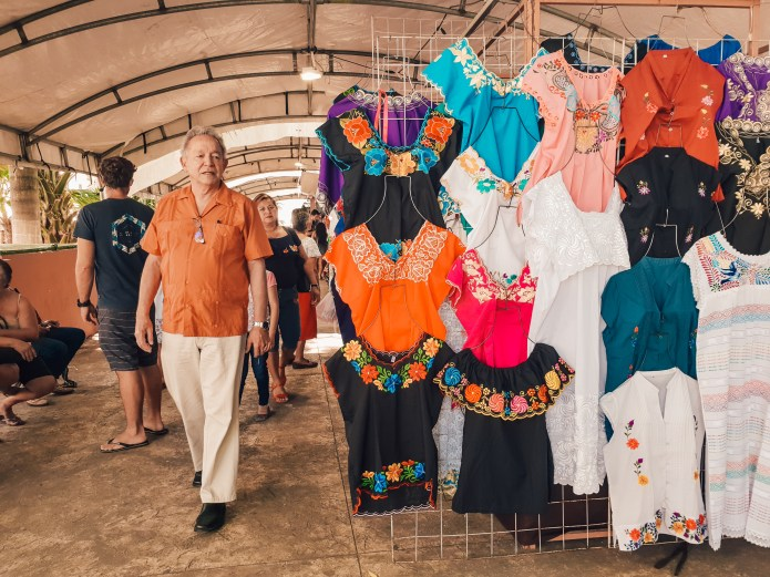 Plaza Grande Sunday Market Merida Mexico North America Stalls