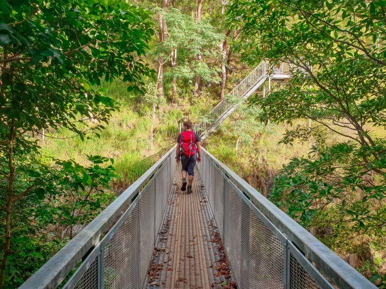 Stoney Creek Kuranda Rail Crosses Douglas Track Cairns Queensland Asutralia
