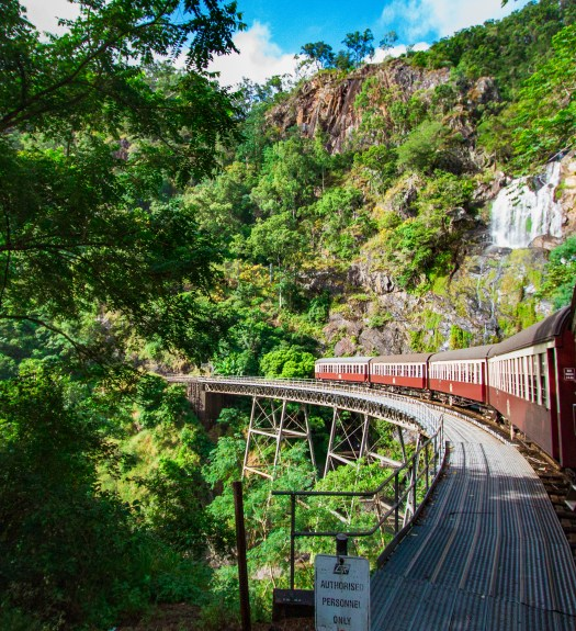 Stoney Creek Waterfall Kuranda Scenic Railway Cairns Queensland Australia
